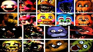 FIVE NIGHTS WITH JUMPSCARES (FNAF 1, 2, 3 ALL JUMPSCARES)