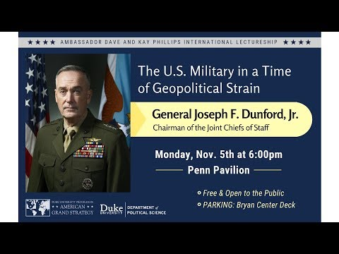 Joseph Dunford speaks at Duke University