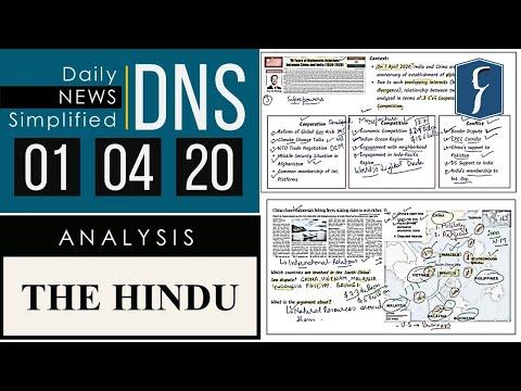 THE HINDU Analysis, 01 April 2020 (Daily News Analysis For UPSC) – DNS