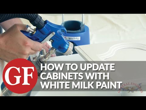 How To Spray A Finish To Update Cabinets With White & Light Paint | Brush | Roll | General Finishes