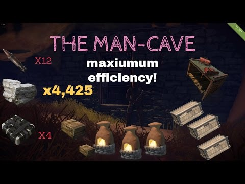 RUST| The Man-Cave! (MAXIMUM EFFICIENCY) BUILDING TIP