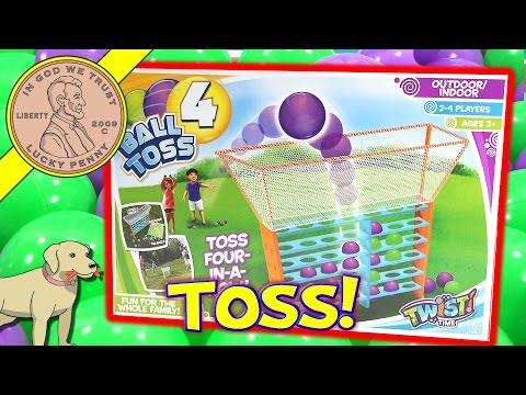 Ball Toss-4, Toss Four-In-A-Row Outdoor Or Indoor Family Game