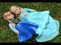 American Girl Doll Disney Frozen Making Anna and Elsa