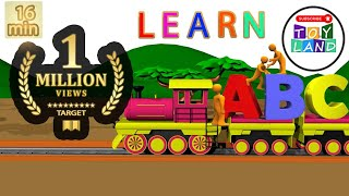 Tom The Train | Alphabet Adventure | abc Song | abcd song | Alphabet Songs for children