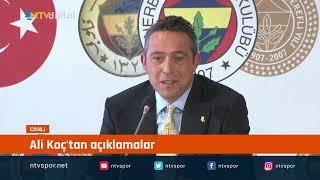 #CANLI - Fenerbahçe Başkanı Ali Koç basın toplantısı düzenliyor