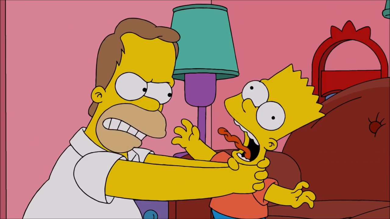 The FIRST Time Homer Strangles Bart - The Simpsons - YouTube