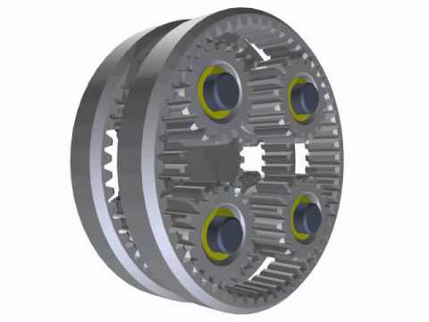 Planetary Gear Set >> Wolfrom-hajtómű - YouTube