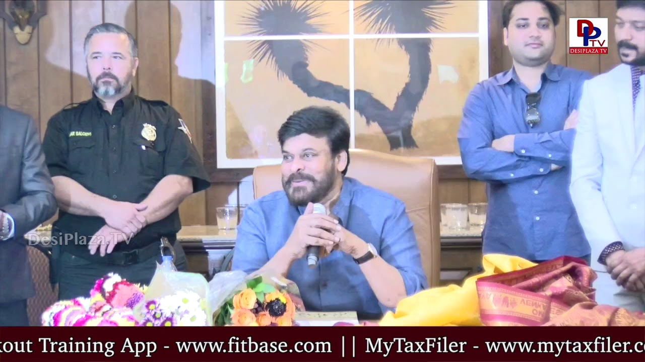 MegaStar Chiranjeevi humble invitation to the NRI fans to visit his home | DesiplazaTV