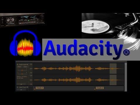 Audacity: Convertir vinilos o cintas a formato digital y exportar el resultado en temas individuales