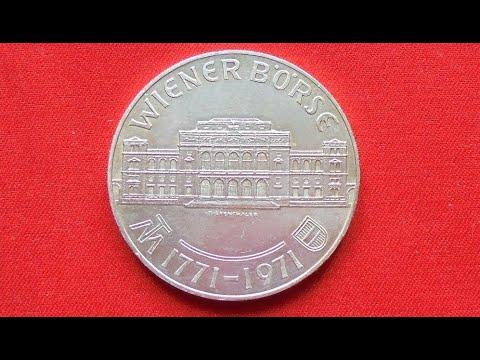 AUSTRIA SILVER 25 SCHILLING 1971 - 200th Anniversary - Vienna Bourse