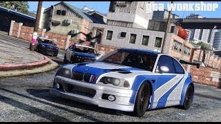 GTA 5 MOD | BMW M3 GTR (E46) NFS - Most Wanted | Police Chase!!! | PC - 60 FPS