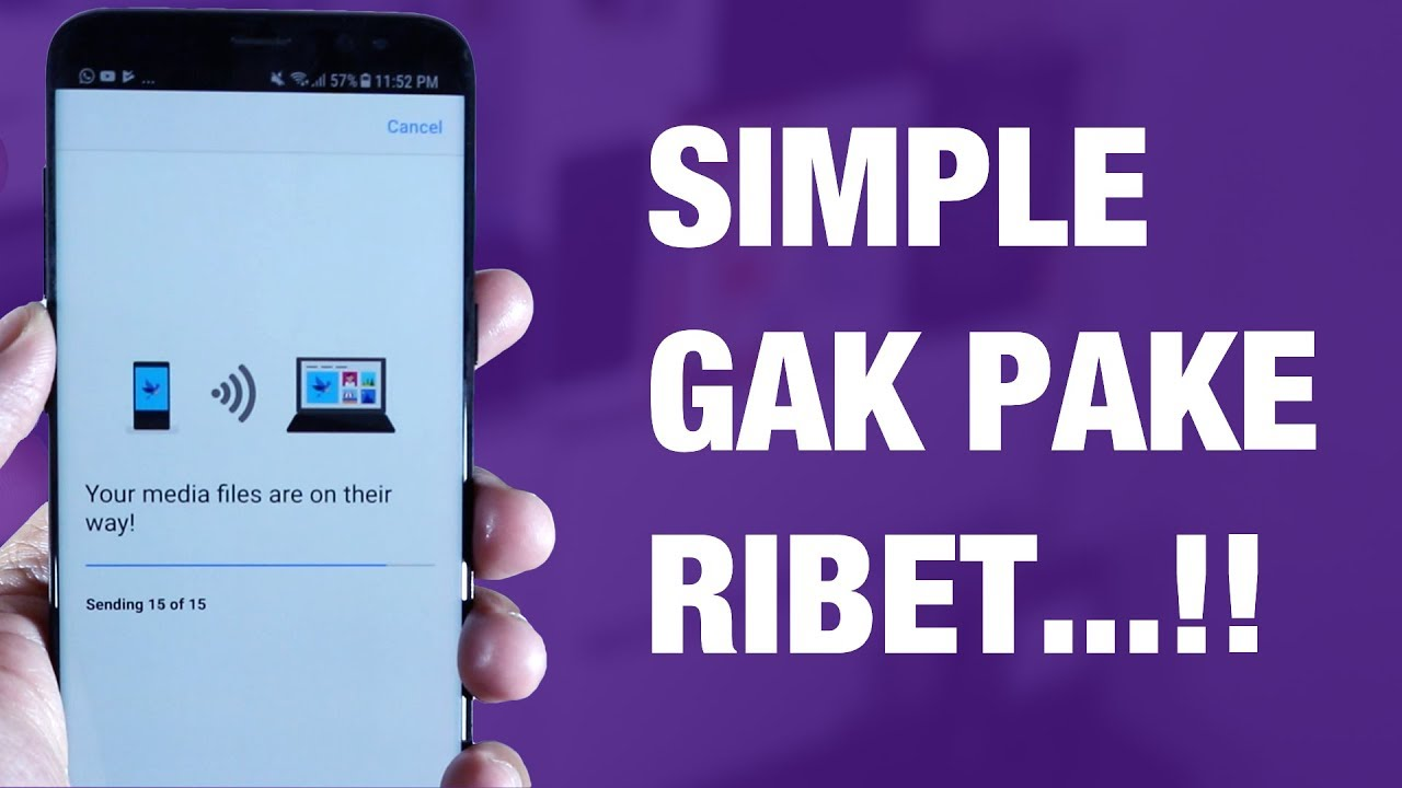 Cara Memindahkan FOTO dari iPhone / Android ke LAPTOP Windows — Wireless TANPA Kabel!