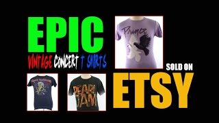 EPIC VINTAGE CONCERT T SHIRTS THAT SOLD ON ETSY