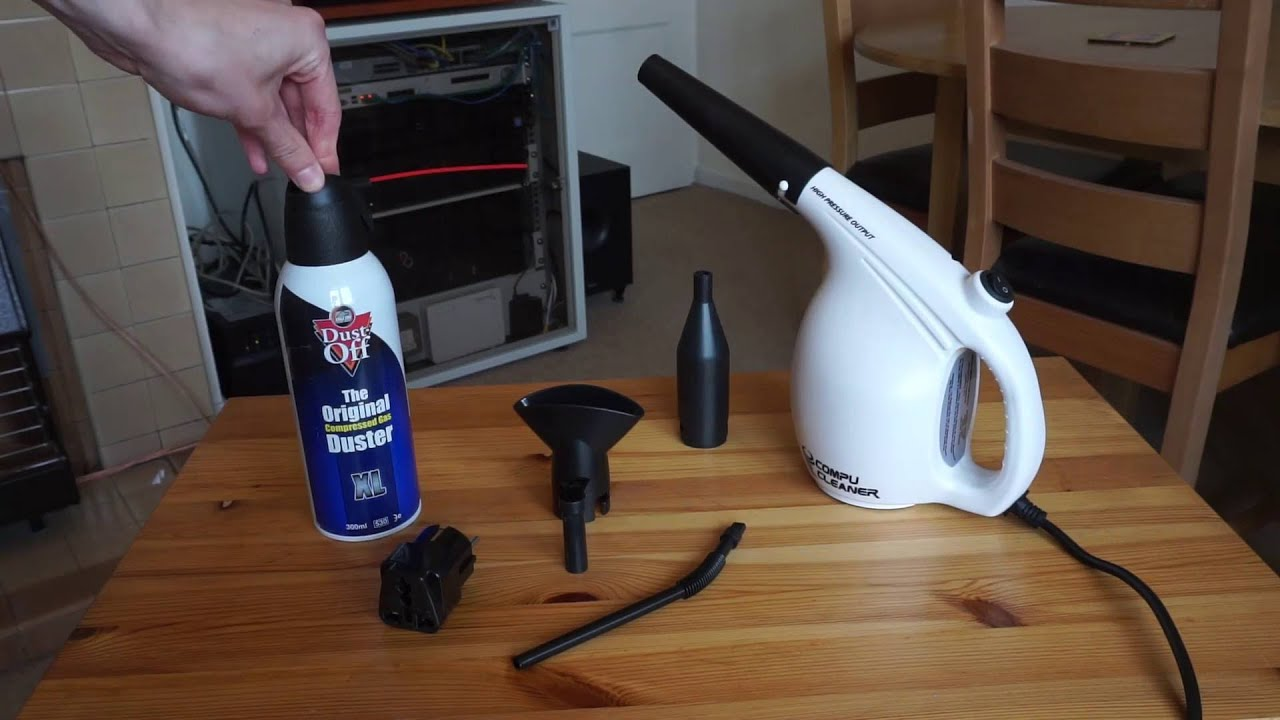 review compucleaner electric air duster youtube. Black Bedroom Furniture Sets. Home Design Ideas