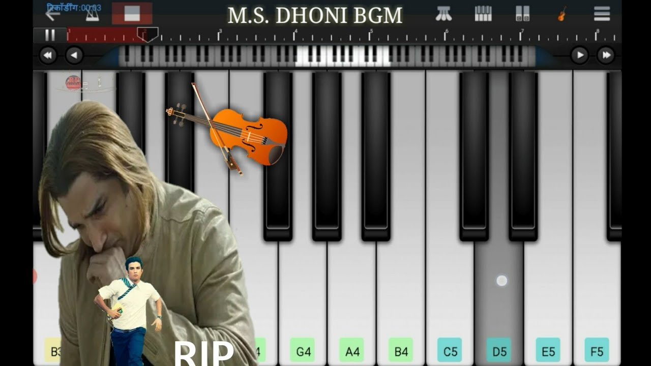 M S Dhoni The Untold Story Sad Bgm Piano Cover| Walk Band App Tutorial, Rip Sushant Singh Rajput