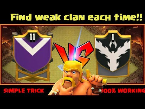 Find Weak Clan Every Time In Clan Wars!!in Clash Of Clans Hindi