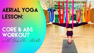 Aerial Yoga Lesson - Core & Abs Workout | Beginner - Intermediate Class | CamiyogAIR