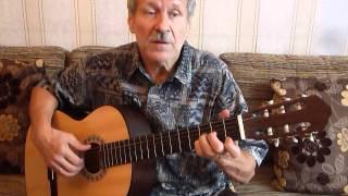 Старый причал (Б. Окуджава) - урок игры на гитаре (Валерий Шаров)