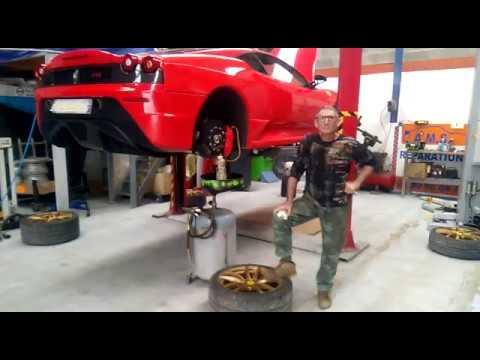 Ferrari 430 scuderia. Remplacement liquide frein