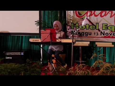 Kamila playing keyboard Indonesia Jaya Karya Chaken M