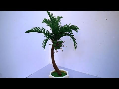 How To Make Coconut Tree From Crepe Paper (Easy) | Creative Ideas | DIY & Crafts