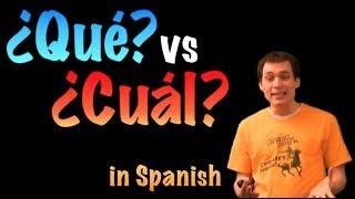 02 Spanish Lesson - ¿Qué? vs ¿Cuál?