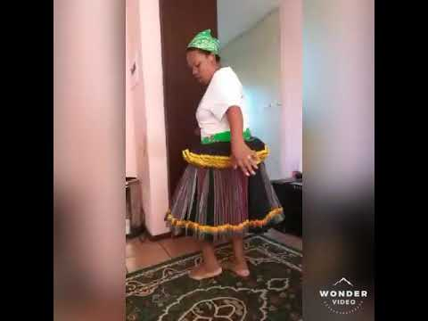 Dancing traditional tsonga dance (xibelani)