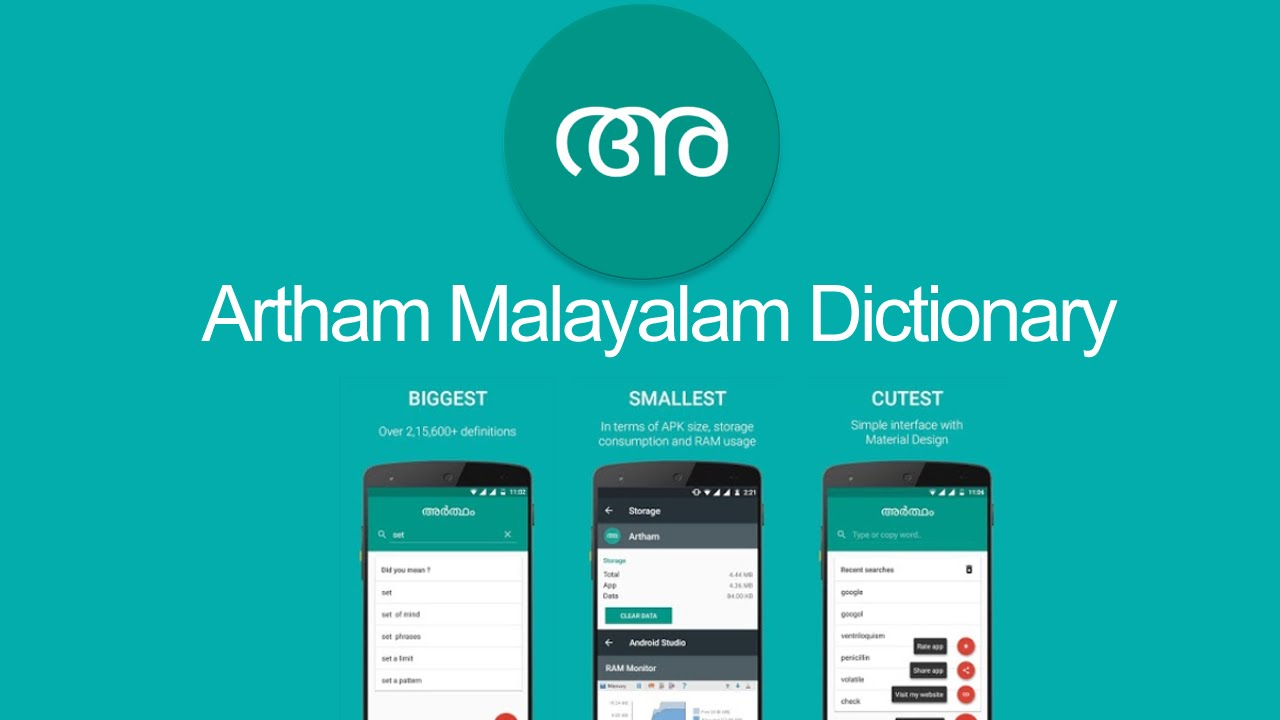 Smallest offline English Malayalam dictionary