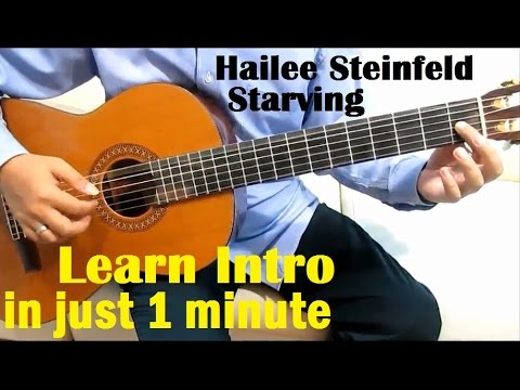 Hailee Steinfeld & Grey ft. Zedd Starving Guitar Tutorial (Intro) - Guitar Lessons for Beginners