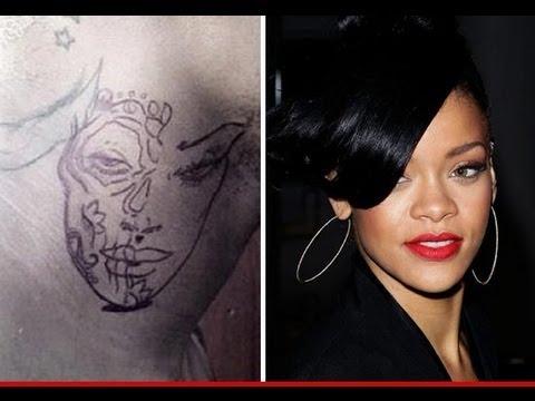 Chris brown neck tattoo rihanna beaten face youtube for Chris brown neck tattoo rihanna face