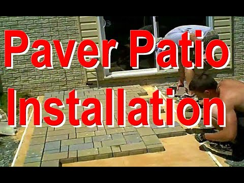 Paver Patio Installation  Fast motion  YouTube