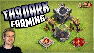 TOWN HALL 9 Dark Elixir Farming Livestream #1