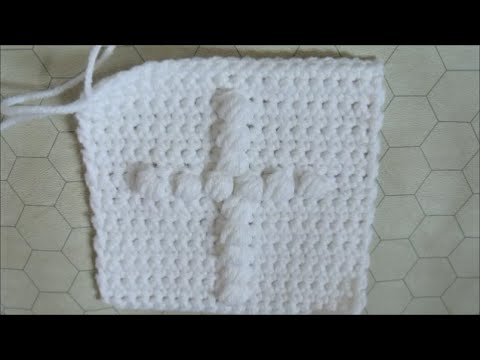 Crochet Granny Square Cross - YouTube