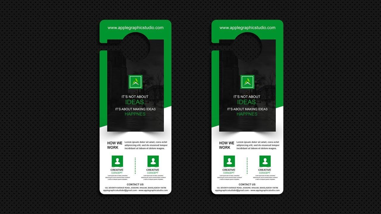 business door hanger design photoshop advanced tutorial youtube