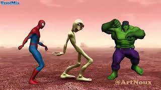 Download lagu Demi tu Casita challenge with Spider man and Hulk MP3