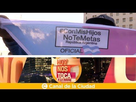 """<h3 class=""""list-group-item-title"""">Marcha continental """"Con mis hijos no te metas"""" en Hoy nos toca a la Noche</h3>"""