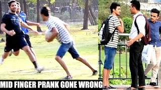 Showing Middle Finger Prank in INDIA(Gone Wrong) | AVRprankTV
