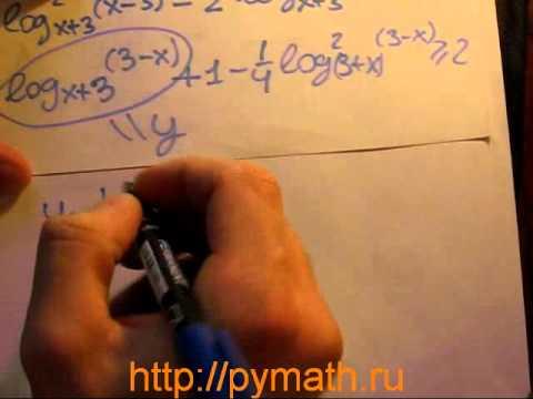ЕГЭ математика С3. Решите неравенство.Видео урок