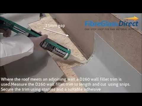 How to install and apply GRP / Fibreglass roofing trims