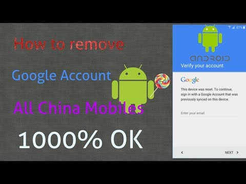 How To Remove Google Account || All China Android Mobiles 20