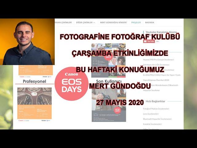 FOTOGRAFİNE Fotoğraf Kulübü Etkinliği - Mert Gündoğdu Fotoğraf ve Teknoloji üzerine söyleşi