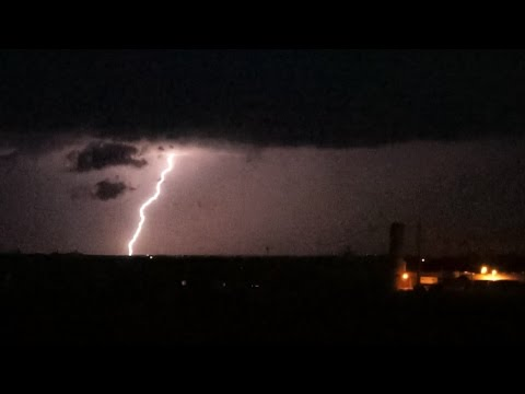 Severe thunderstorms in the evening - July 11 2015 [HD 60FPS]