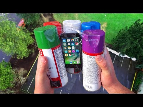 Can Spray Paint Cans Protect iPhone 7 from 100 FT Drop Test?