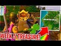 WEEK 5 CHALLENGE TREASURE 'Follow The Treasure Map Found in Snobby Shores' Fortnite