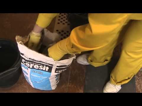 видео: Видеоуроки по ремонту квартир. Как приготовить раствор Церезит СМ 11
