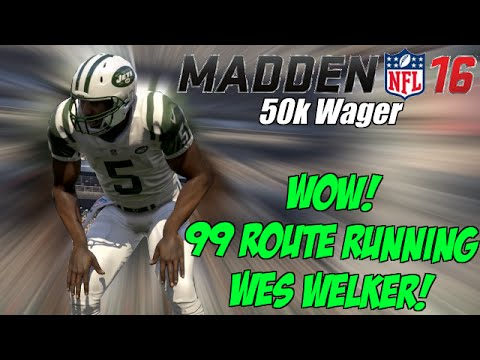 WOW! Clutch 99 Route Running Wes Welker In 50k Coin Game | Madden 16 Ultimate Team Gameplay