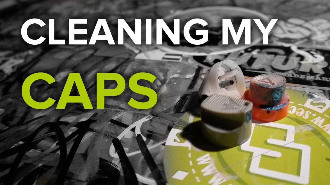 cleaning spray paint caps youtube