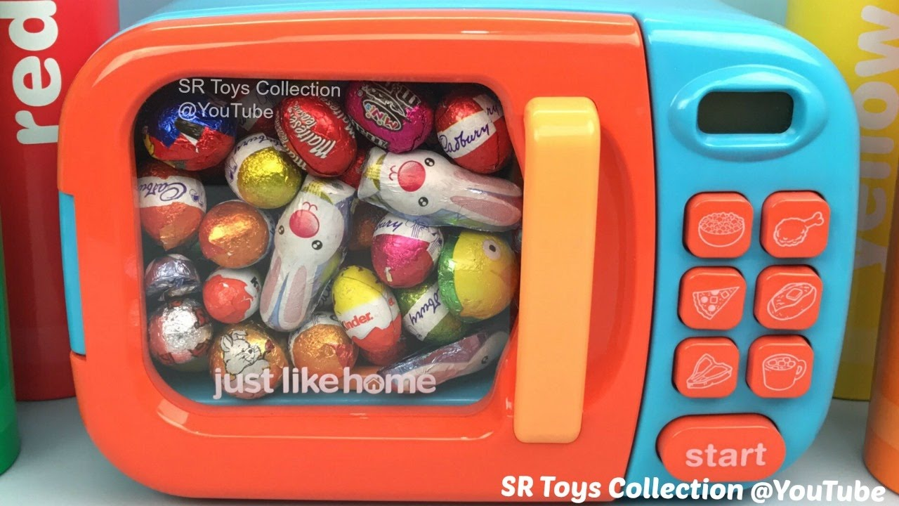 Microwave Chocolate Eggs Nursery Rhymes Surprise Toys Monster High