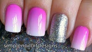 Ombre Nail Art Tutorial Using Acrylic Paint thumbnail