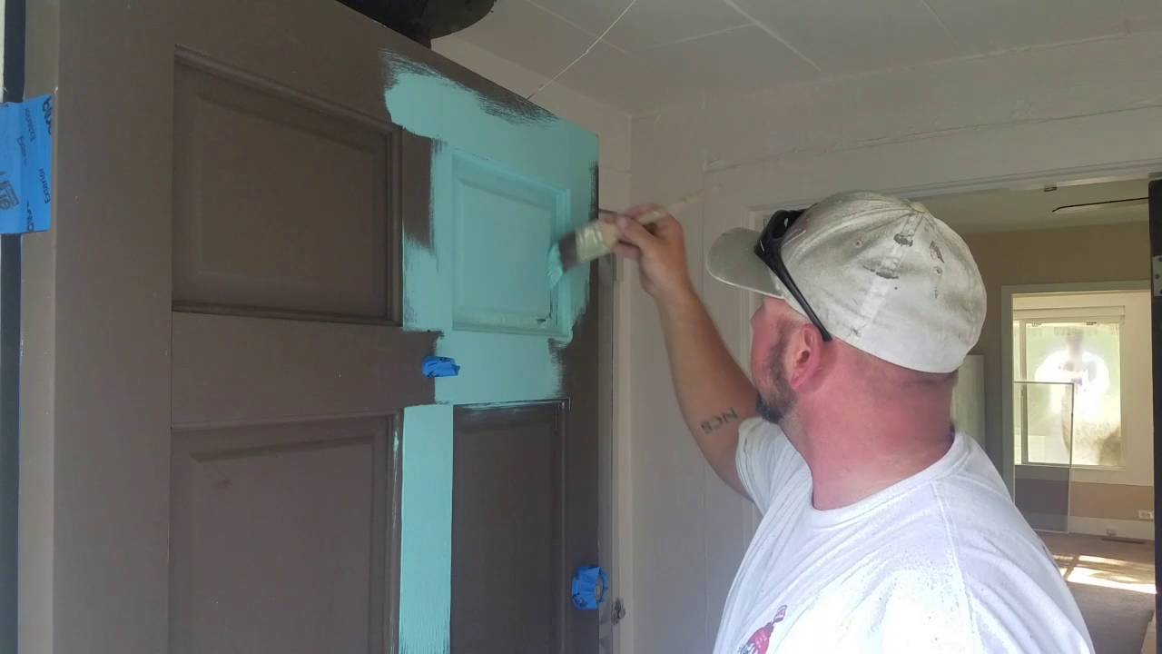 Painting A Door With Sherwin Williams New Product Called Solo